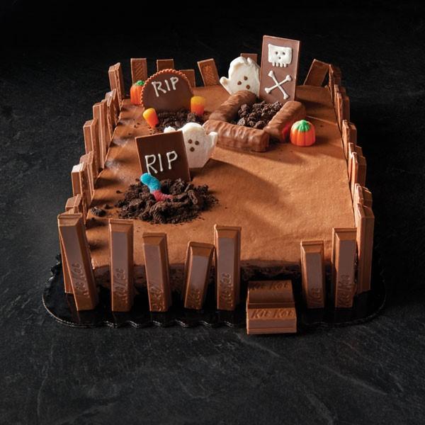 gâteau d'halloween cimetière