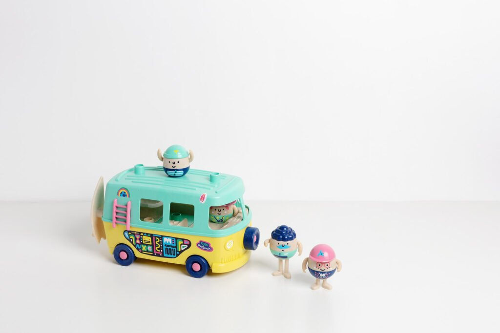 le jouet en plastique recyclé made in France: le van Mini Mondes